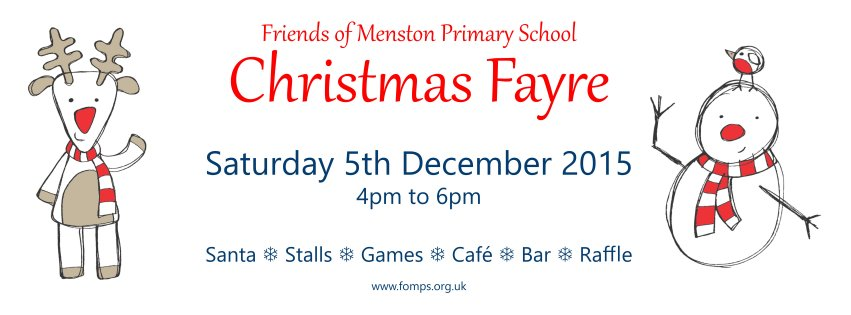 FoMPS Christmas Fayre – Saturday 5th December 2015