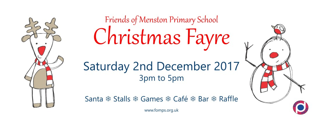 FoMPs Christmas Fayre Saturday 2nd December 3-5pm