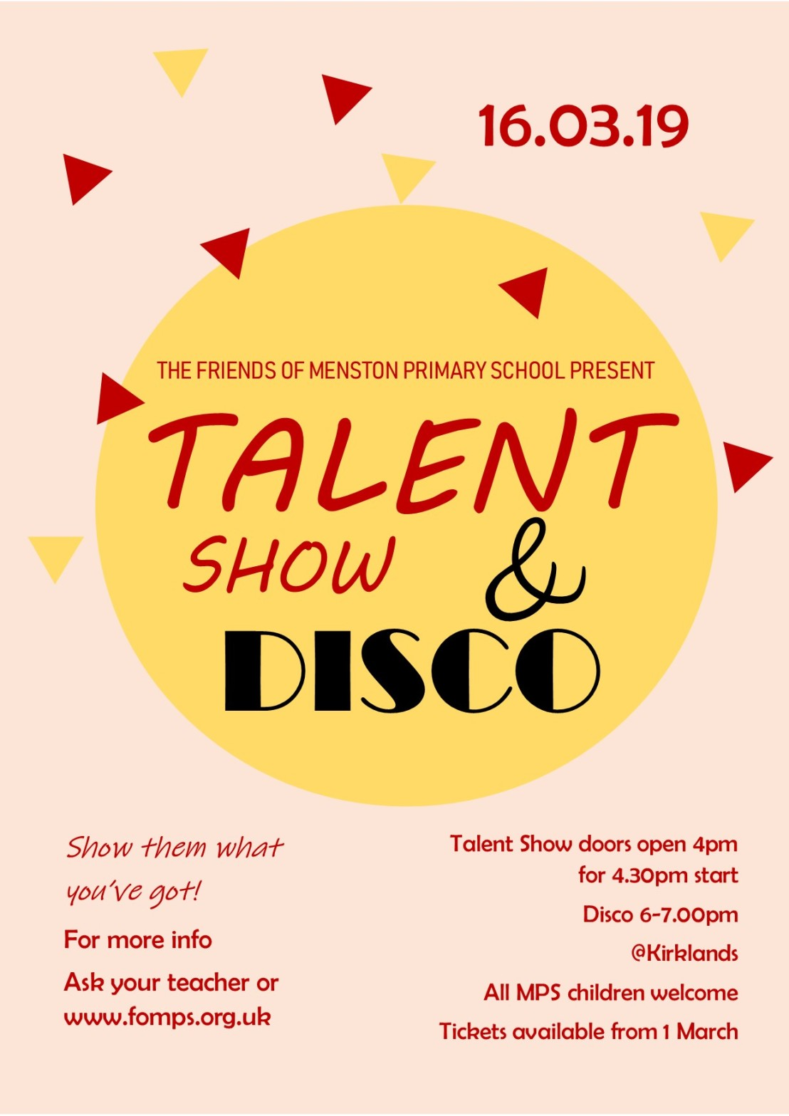 Talent show 2019 poster